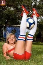Soccer Floozy in Socks